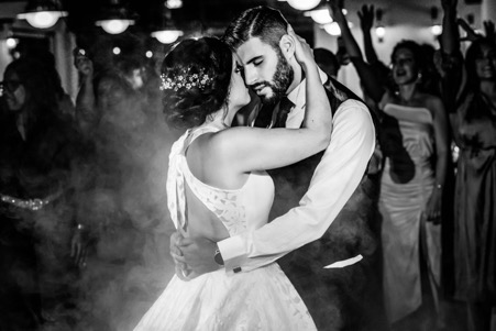 Picture of young bride and groom dancing at a wedding to illustrate Sexual Polarity